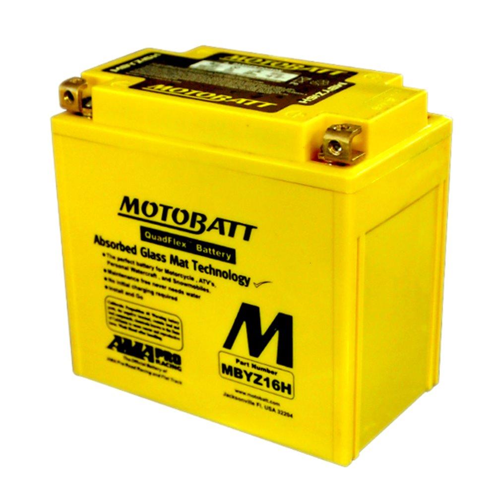 Motobatt battery, MBYZ16H HeavyDuty