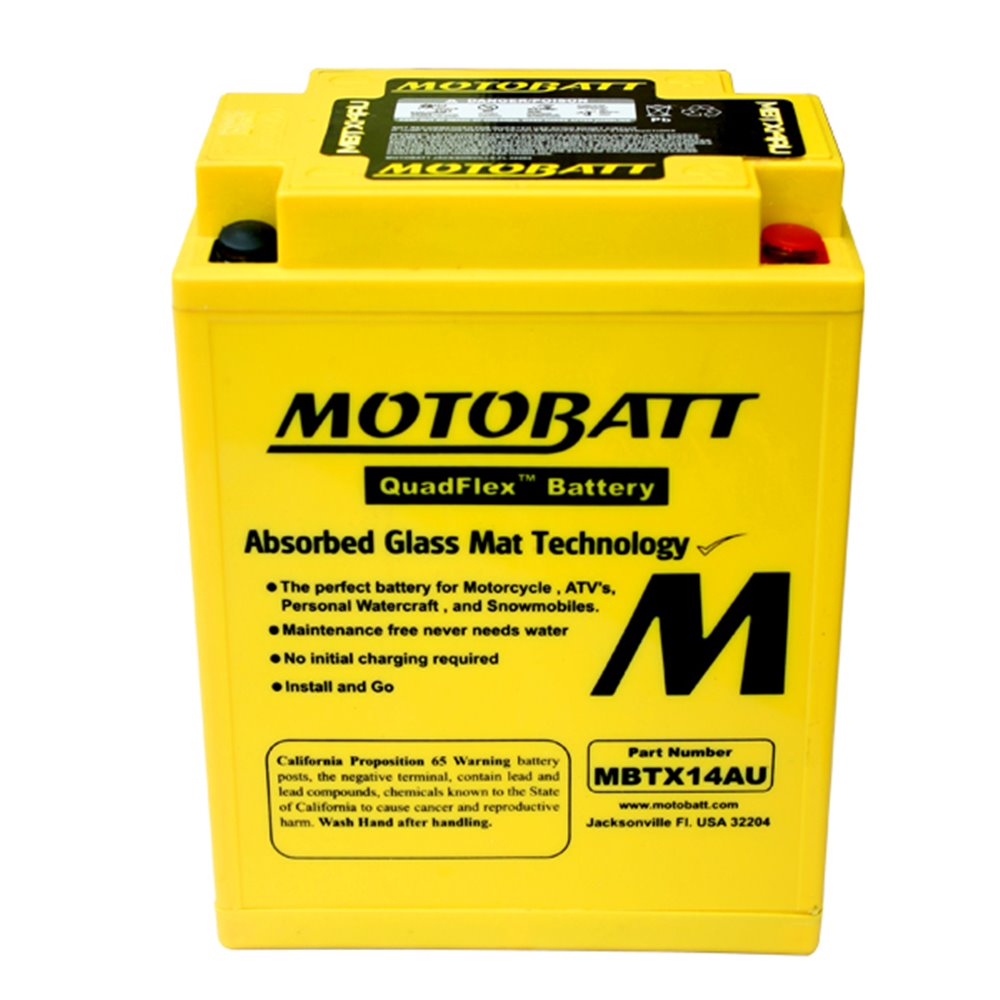 Motobatt battery, MBTX14AU