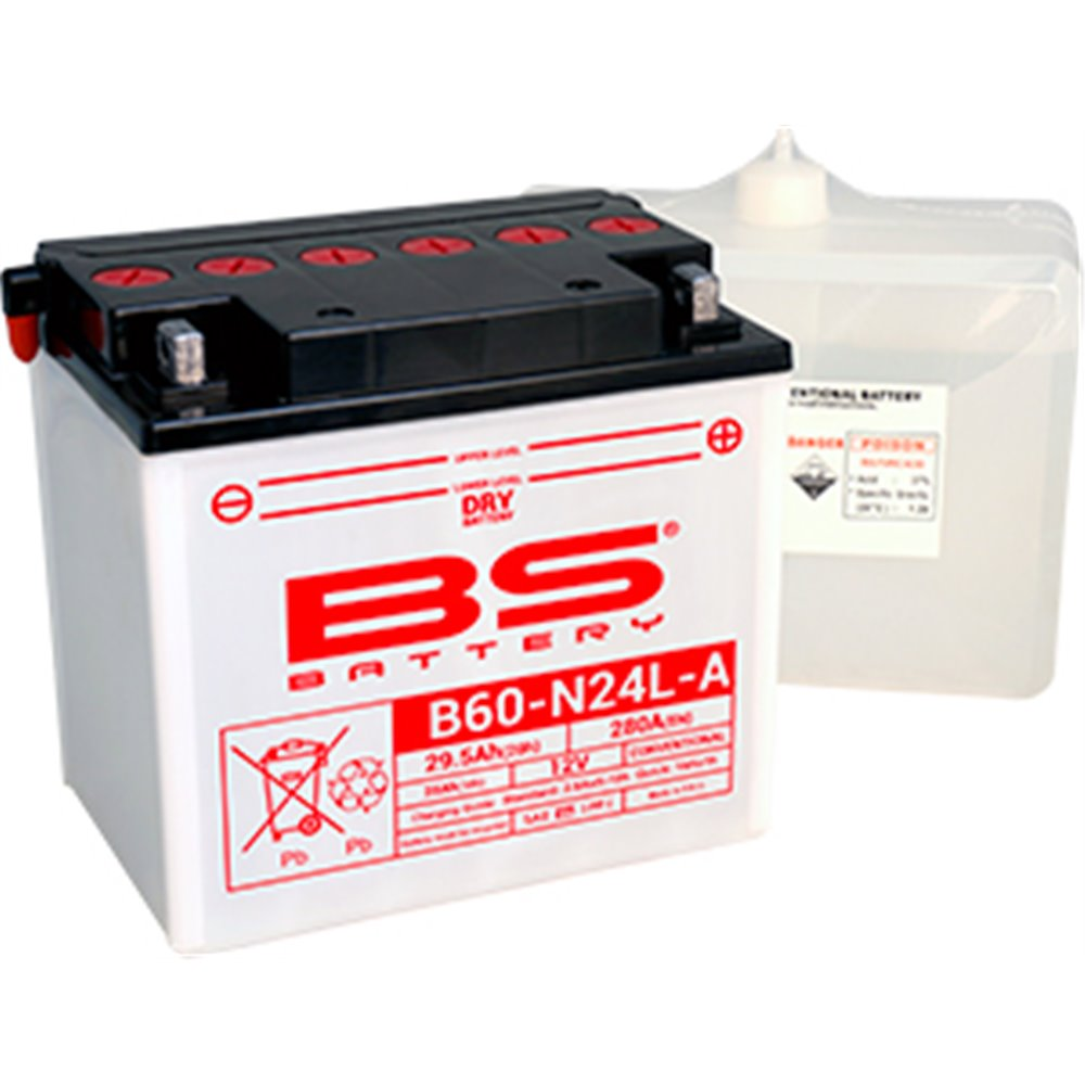 BS Battery  B60-N24L-A (cp) Conventional, Dry charged
