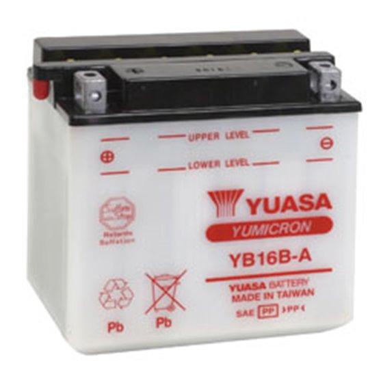 Yuasa battery, YB16B-A (dc)