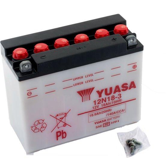 Yuasa battery, 12N18-3 (dc)