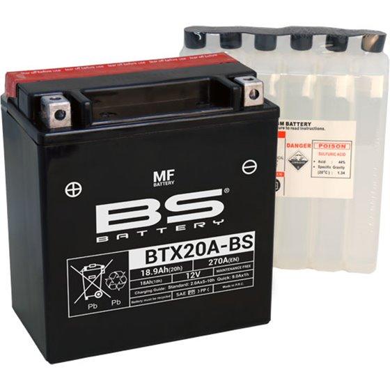 BS Battery  BTX20A-BS MF (cp) Maintenance Free