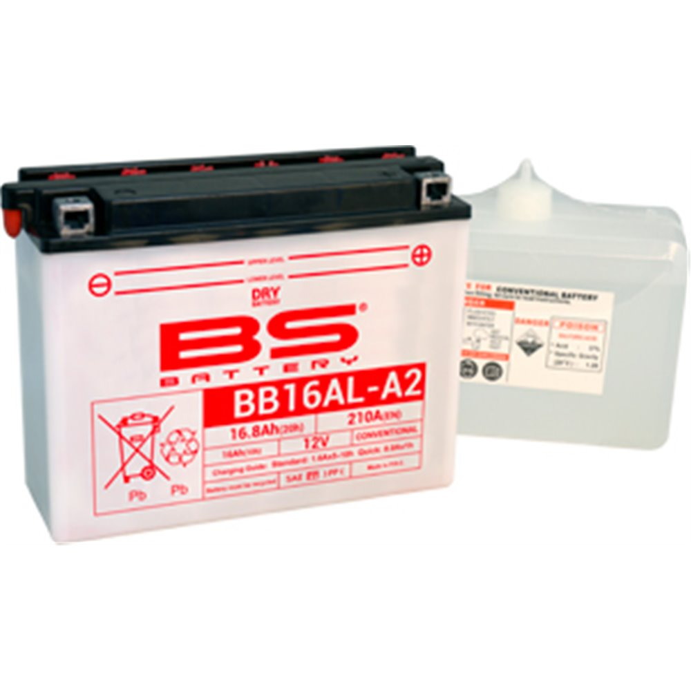 BS Battery  BB16AL-A2 (cp) Conventional, Dry charged