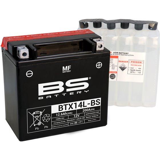 BS Battery  BTX14L-BS MF (cp) Maintenance Free