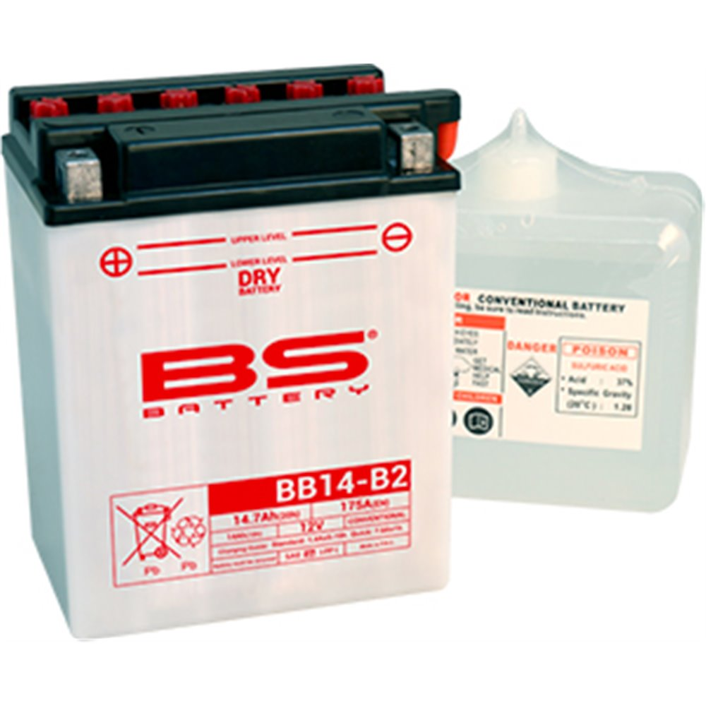 BS Battery  BB14-B2 (cp) Conventional, Dry charged