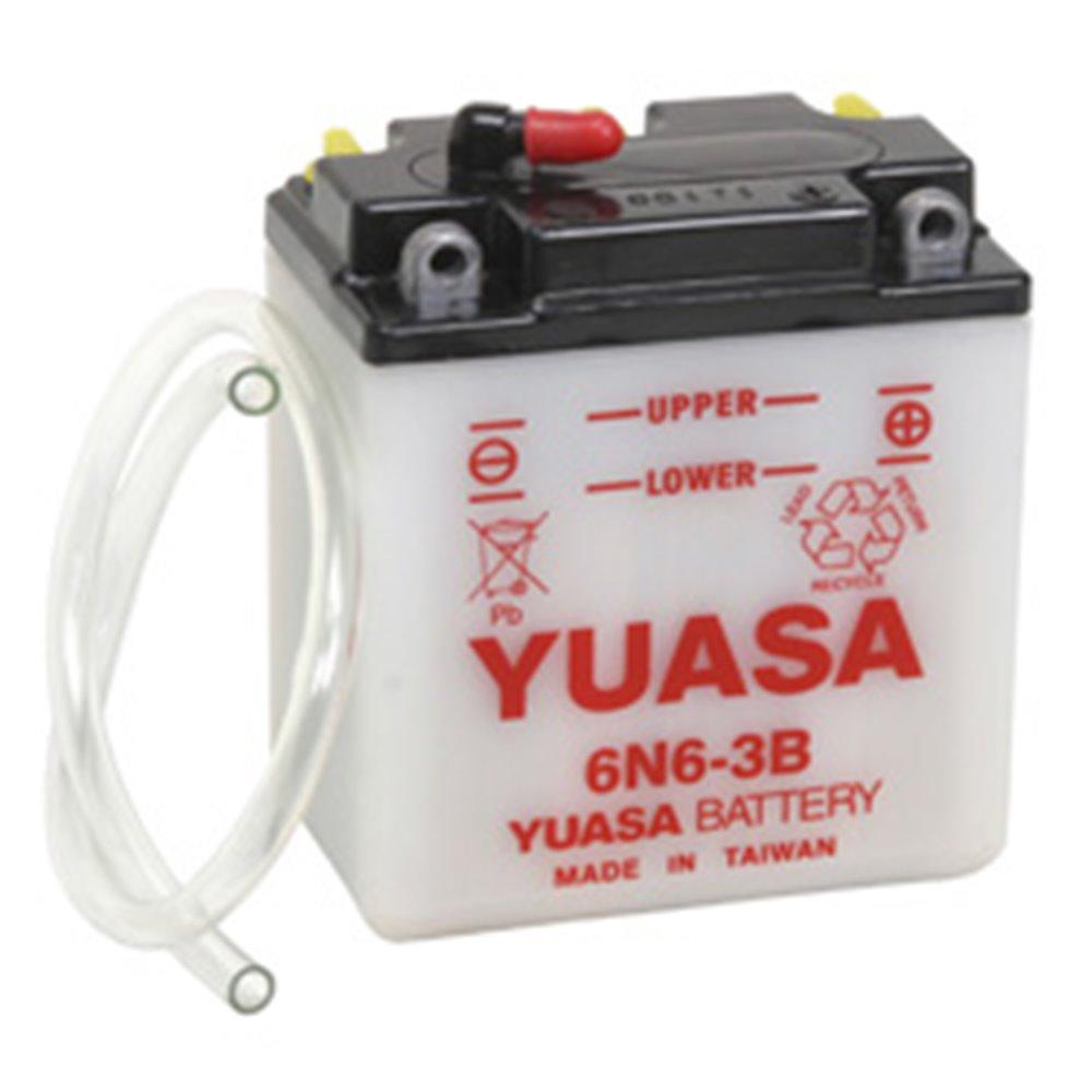 Yuasa battery, 6N6-3B (dc)