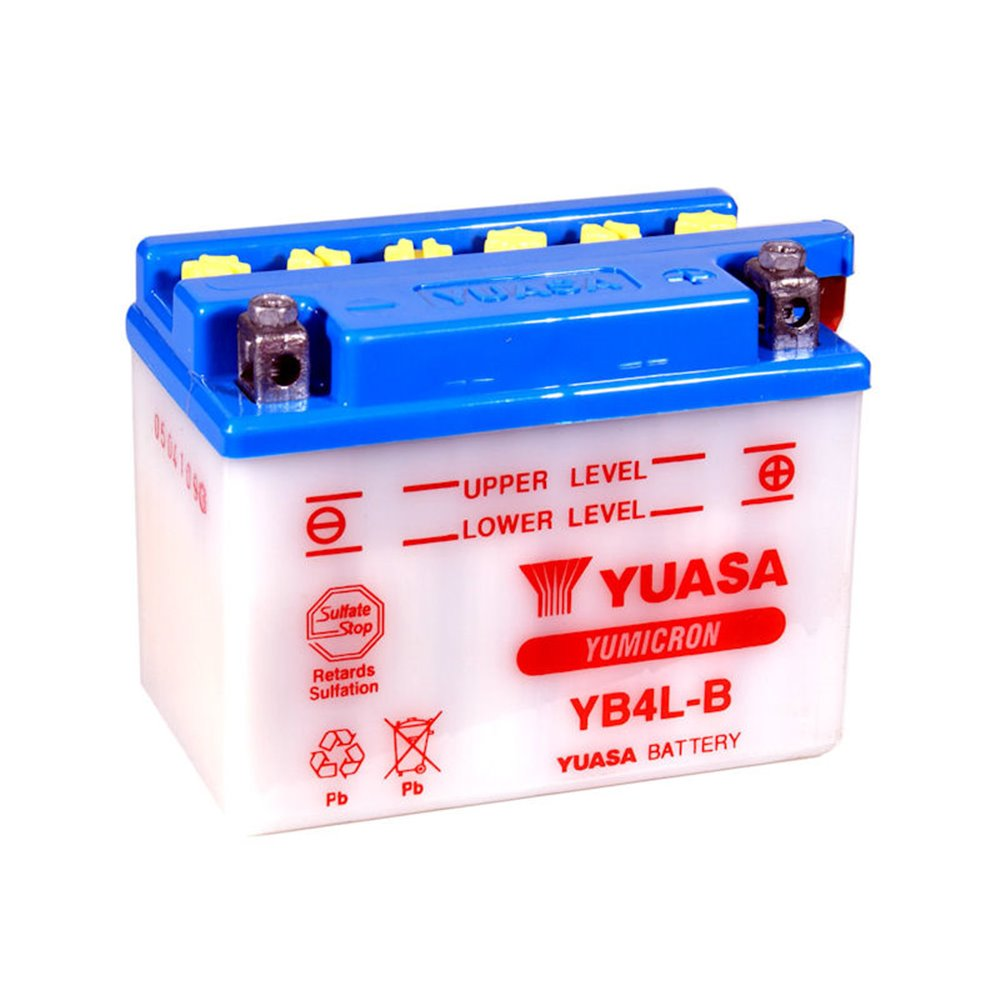 Yuasa battery, YB4L-B (with acid bottle) (cp)