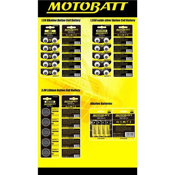 Motobatt SR44SW,357/309,SR1154 1.55V oxide silver battery (10pcs)