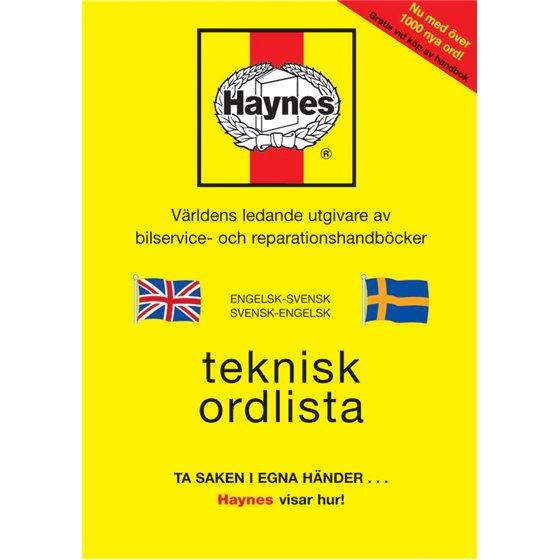 *Reparationsmanual HAYNES Svensk Engelsk Ordlista
