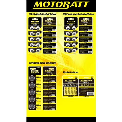 Motobatt CR1616 3.0V Lithium battery (5pcs)
