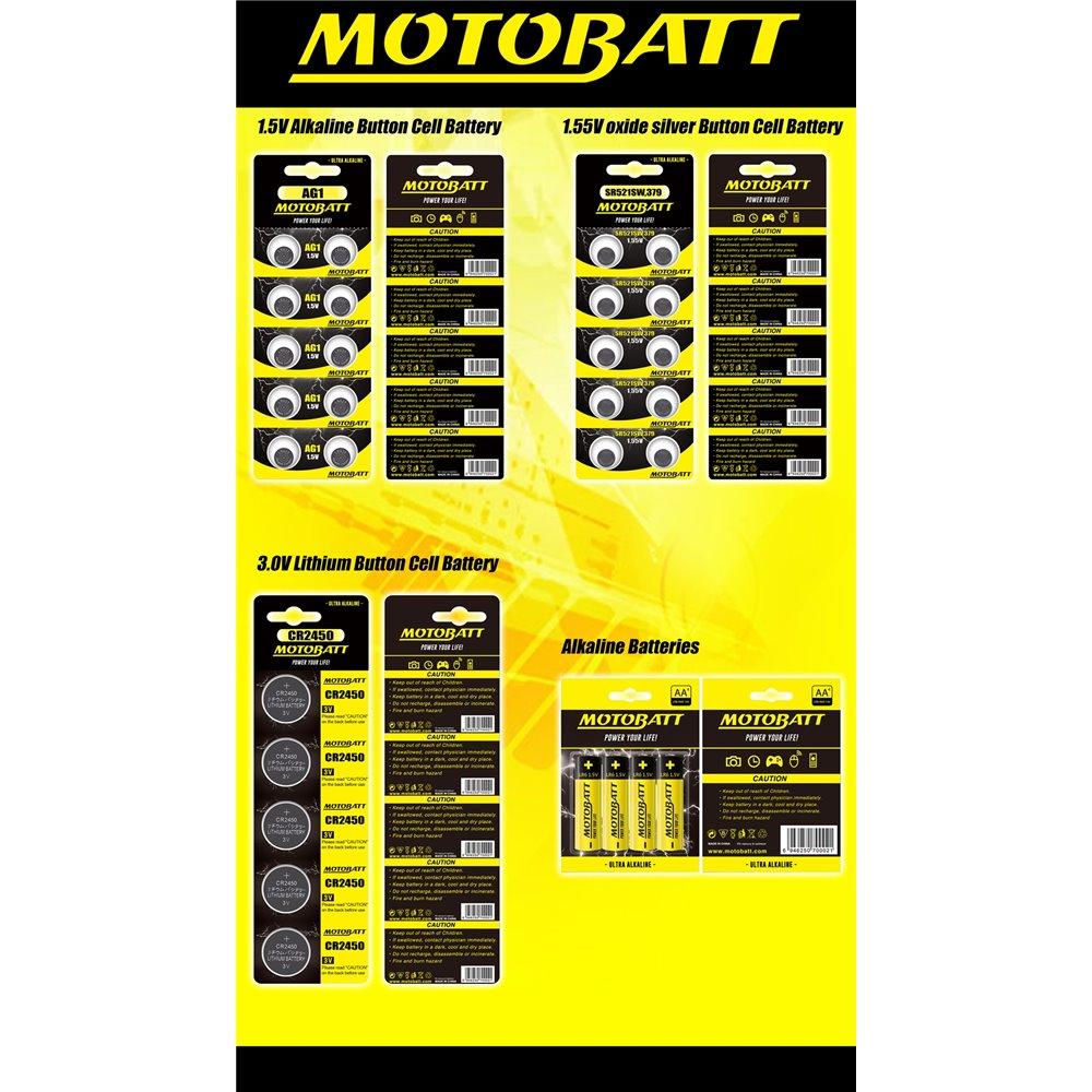 Motobatt AG2,LR726,396/397 1.5V Alkaline battery (10pcs)