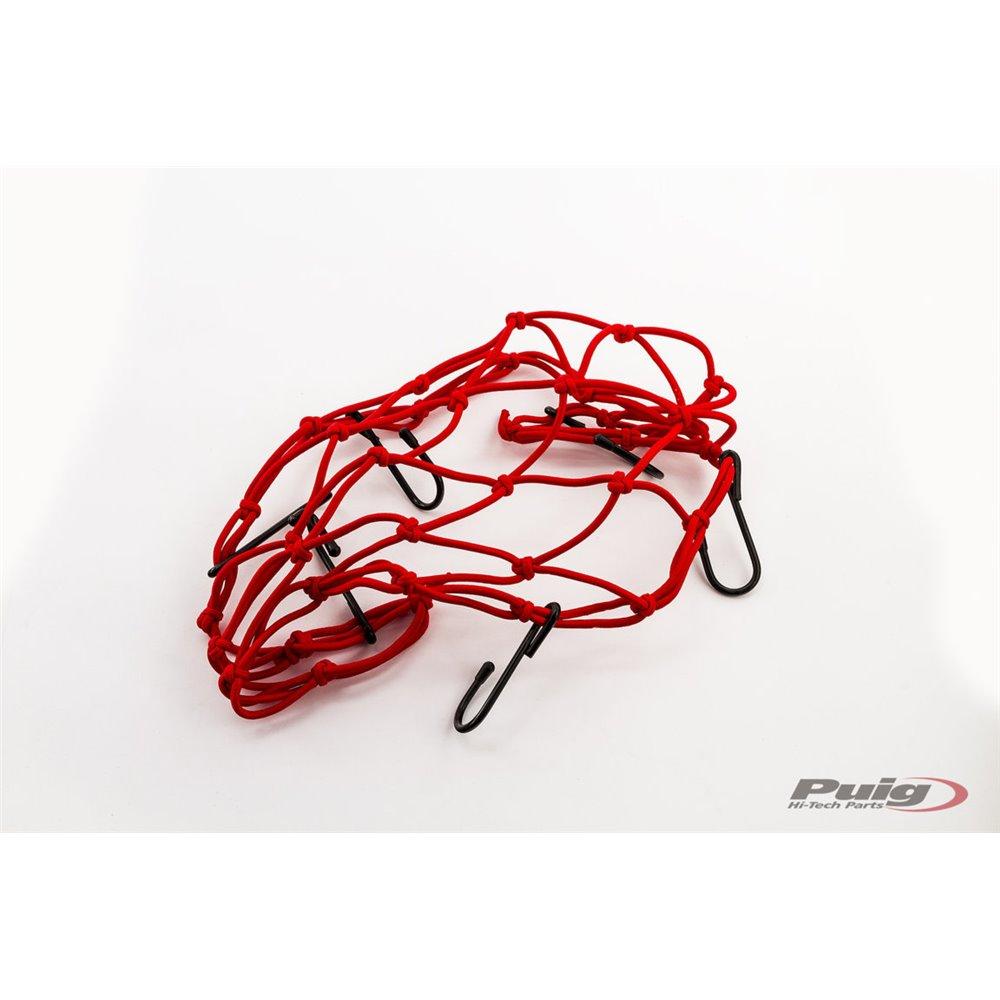 Puig Elastic Network Cargo net De 350X350 C/Red
