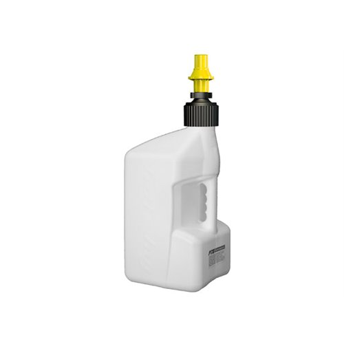 Tuff Jug Can 20L White with Yellow Ripper Cap