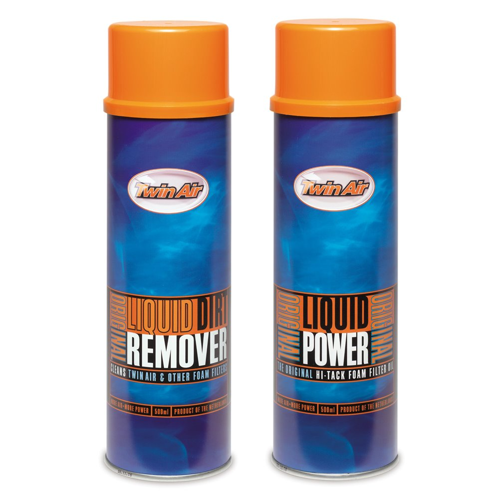 Twin Air Liquid Power Spray + Liquid Dirt Remover Spray Pak (2x500ml) (IMO)